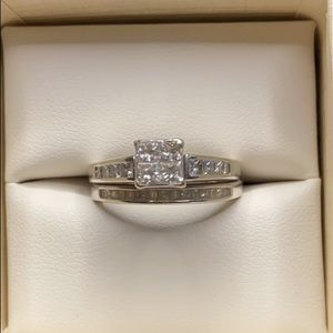 Kay jewelers white gold wedding set